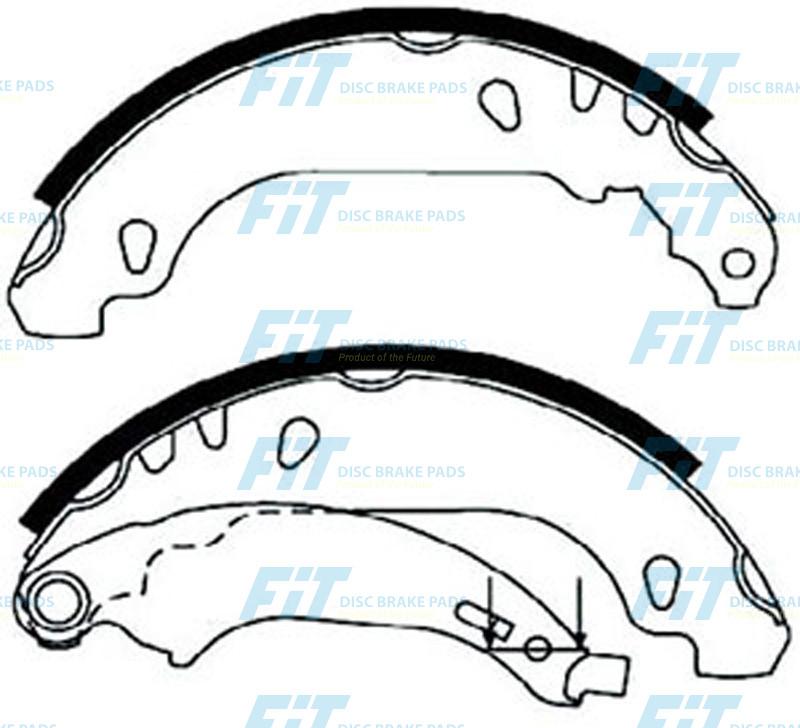 set of 4 Ferodo FSB596R Brake Shoe Set